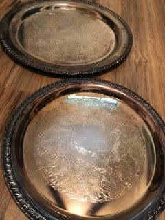 Sterling Silver Vintage Platters - two