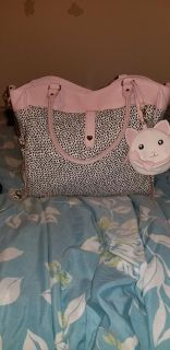 Diaper bag Betsey Johnson pink and black