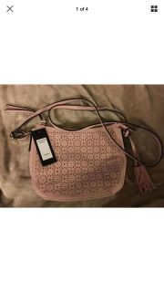 NWT Bueno Collection Pink Faux Leather Crossbody/shoulder Bag w/tassel Detail