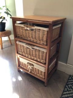 Basket drawers small dresser