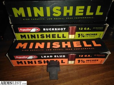 For Sale: Minishells and adapter 12 gauge pump