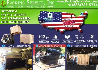 Packing Service, Inc. Queens, NY - Industrial Packing, Nationwide Shipping, palletizing