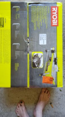 Ryobi 7in wet tile saw