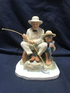Norman Rockwell Old Mill Pond Figurine