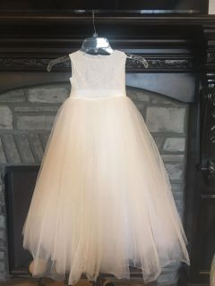 Size 5 White Pageant or Flower Girl Dress