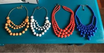 set of 4 like NEW women's necklaces