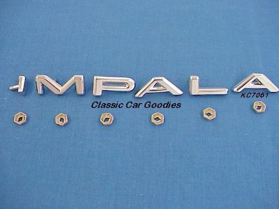 "Sell 1964 Chevrolet ""Impala"" Chrome Letter Set (1) Chevy motorcycle in Aurora, Colorado, US, for US $32.99"