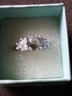New Sterling Silver Sapphire Sz 7 Ring