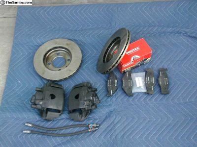 Vented rotors, Calipers,Pads & Brake lines.