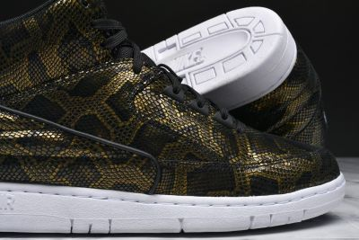 Nike Metallic Gold Air Python Mid Top Sneakers Casual Sportswear Shoes 11 1/2 11.5 NEW