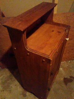 Wood Trash Can Cabinet