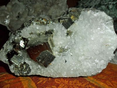 Beautiful Creation Large Crystal Pyrite and Crystal Created by Earth's Mother