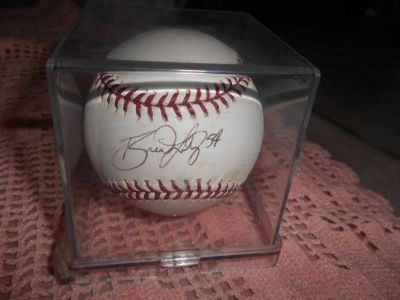 MLB Original Autographed Baseball! Player Autograph Unknown. Sealed In Plastic Case!