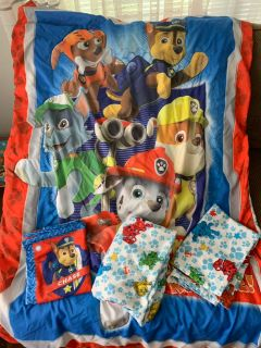 Toddler paw patrol bedding