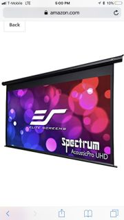 NEW IN BOX Elite Screens Inc Projection Screen