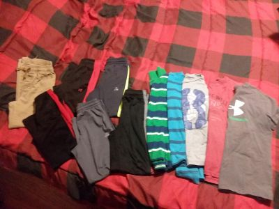 Boys size 8 lot 6 pairs of pants & 5 tops