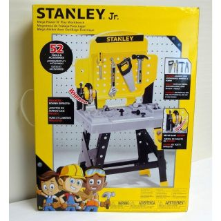 Stanley Jr. Toy Play Workbench Set 52 Tools & Accessories
