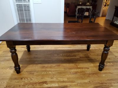 7' Dining Kitchen Farmhouse Hardwood Table