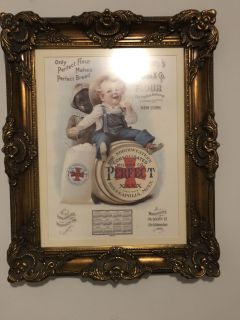 Vintage picture in gorgeous frame