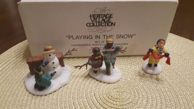 DEPT 56 PLAYING IN THE SNOW