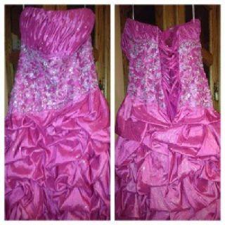 $130 hot pink prom dress