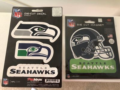 Seahawks die cut decal and magnet lot