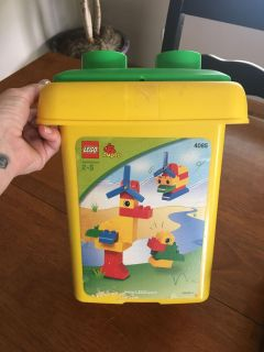 Container of Lego Duplos