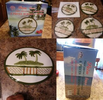4 piece palm trees burner covers