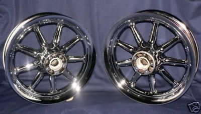 Buy Harley Chrome 9 Spoke Touring Wheels Road King Street Electra Glide FLH Ultra motorcycle in Hayward, California, US, for US $699.99