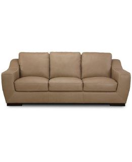 "Gansey 91"" Leather Sofa Reg.$2,299.00 Outlet $1099.00 WOW"