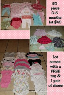 Large 0-6 months girl clothing lot