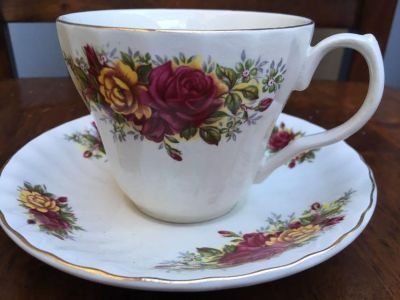 Antique English tea cup and plate