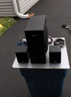 RCA3 PC. SUBWOOFER AND TWO REAR SPEAKERS