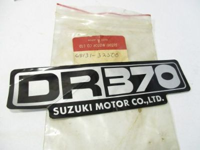 Sell SUZUKI DR370 SEAT COWLING DECAL EMBLEM DR 370 68131-32500 kc motorcycle in Madison, Alabama, United States, for US $39.95