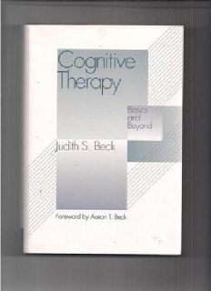 $20 Cognitive Therapy by Judith S. Beck (hardcover)