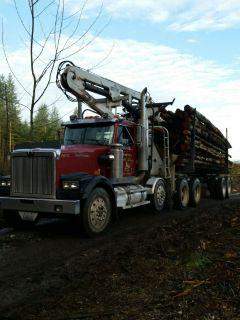 🔥FIREWOOD LOGS For Sale, Self Loader Log Truck Delivers Western Washington