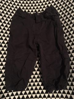 9 Months -- Chicco Brand - Lined Black Cargo Pants