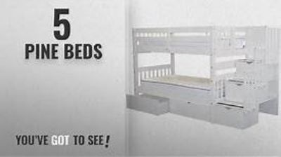 White Twin Bunk Beds w/drawers!