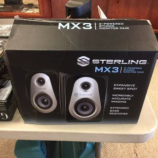 Sterling MX3 Studio Monitor Speakers