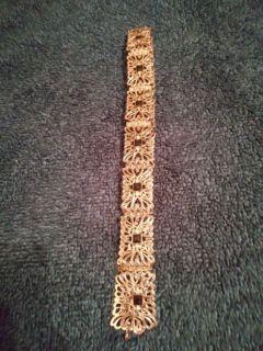 "Ladies Belt.  Metallic stretch belt from ""Coldwater Creek"""