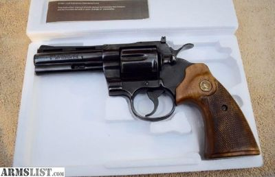 "For Sale: Colt Python 4"" with box & manual."