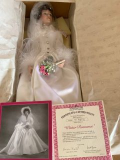 Ashton Drake Winter Romance porcelain doll