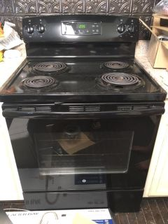 GE oven and range top