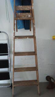 6 foot wooden step ladder