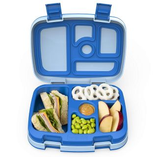 Bentgo Kids Blue Leak-Proof, 5-Compartment Bento-Style Kids Lunch Box Ideal Portion Sizes for Ages 3 to 7 BPA-Free and Food-Safe Mater
