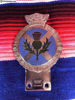 Vintage Scottish Drivers Badge - JR Gaunt, England