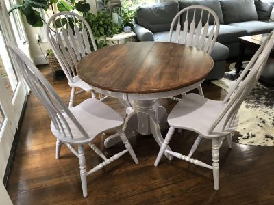 Set of kitchen table and chairs