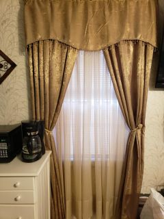 Beautiful Curtains with Valance - 3 sets sold together