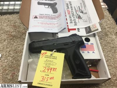 For Sale: RUGER SECURITY-9 9MM NEW IN BOX