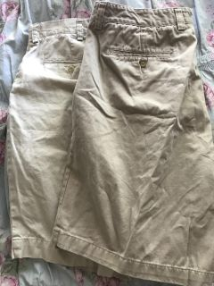 Men s Polo and Chaps flat front shorts. Price is for both pair. Size 38 waist